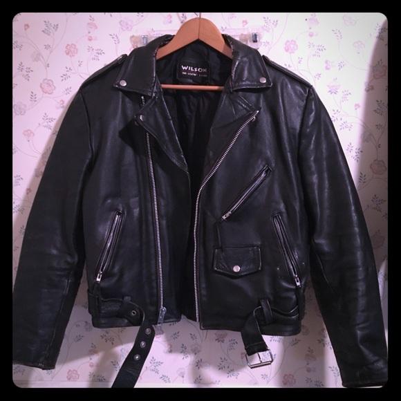 30ff86bd4 Wilson's leather vintage motorcycle jacket medium